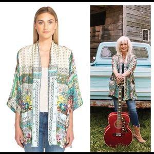 $288 XL Johnny Was SILK Frame Kimono Samira